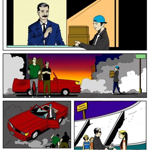 Comic story boarding