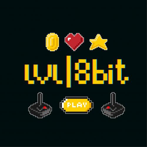 retro game logo