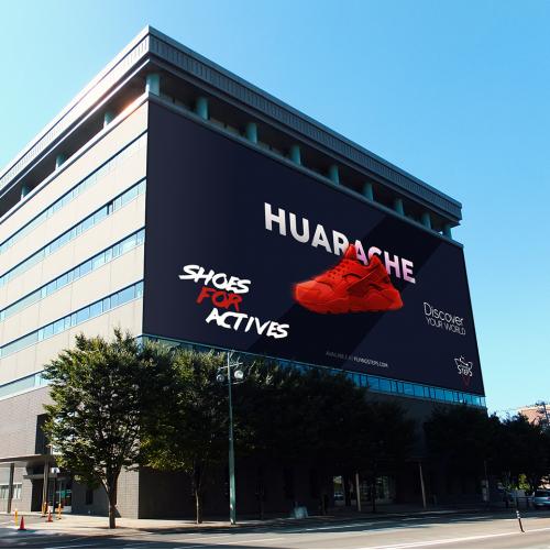 Huarace Shoes Billboard Design