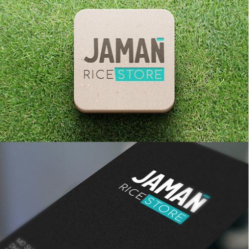 Zaman Rice Store Logo Concept