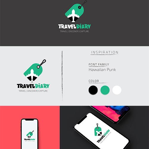 Travel Diary Logo Design Concept