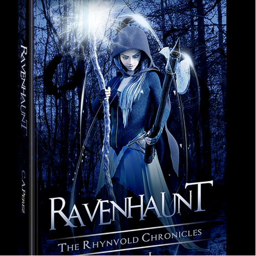 Book Cover - Template 6x9 inches - RAVENHAUNT - 2