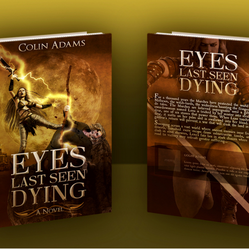 Book Cover Mockup 2- Collateral Marketing - Eyes Last Seen Dying