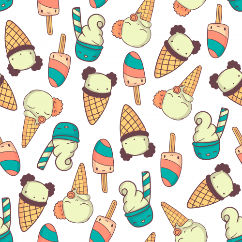 Cute colorfull icecreams