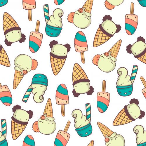 Cute colorfull icecreams