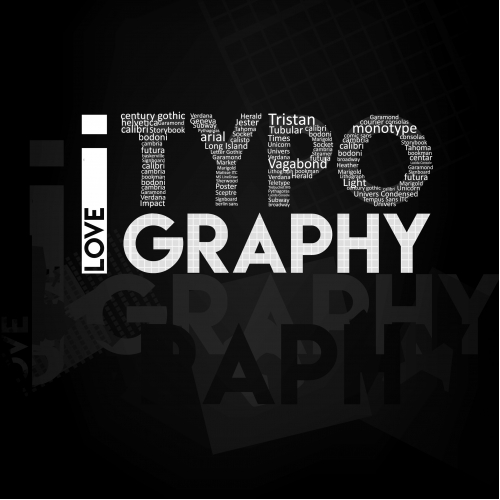 Typographic poster of tyypography