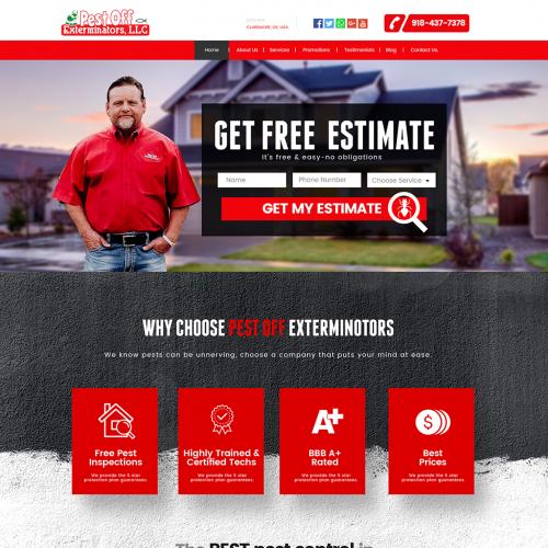 Pest Control Home Services Website Design