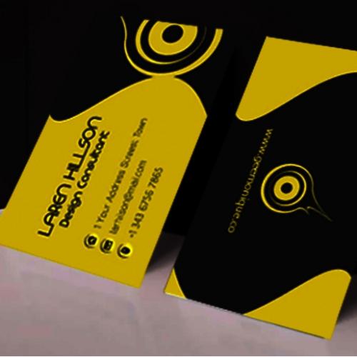 Modern Minimalist Business card