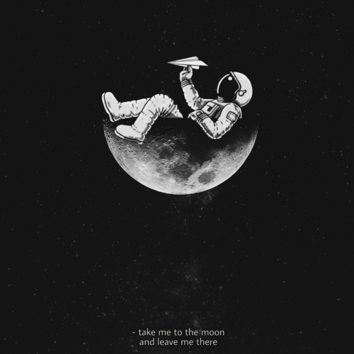 Spaceman in moon