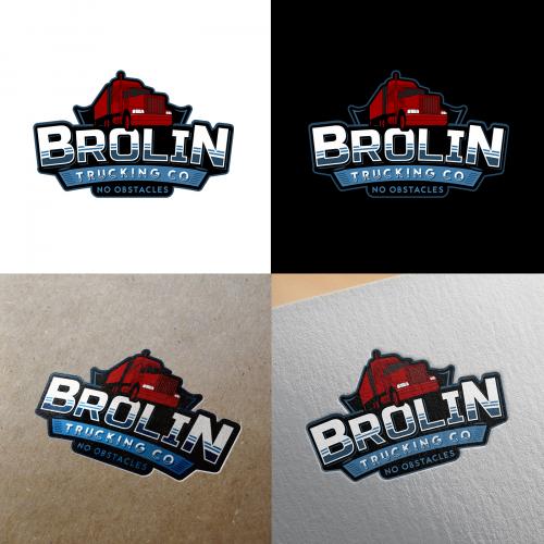 Brolin Trucking Company Logo Design