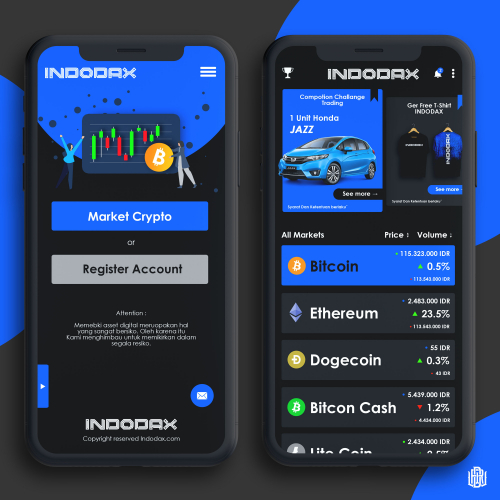 UI/ UX Design Mobile Apps for Indodax