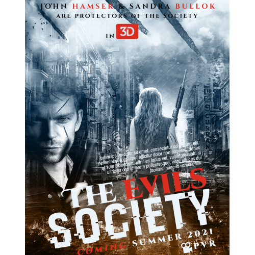 The Evils Society Movie Poster