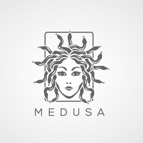 medusa beauty spa lady logo