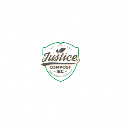 vintage look compost logo