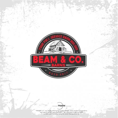 vintage logo for a barn builder