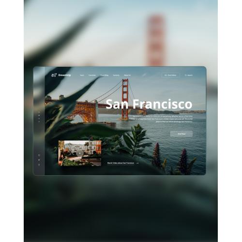 Travel Website concept