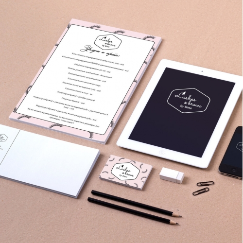 Lashes and Brows Brand Identity