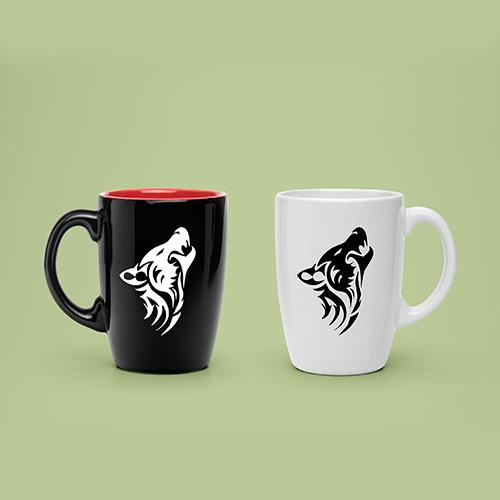 3D Wolf Mug Design