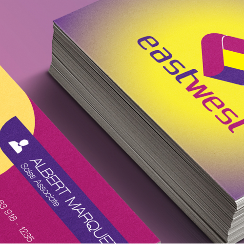 east west bank business card
