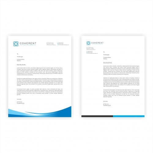 Coherent Eye Letterhead