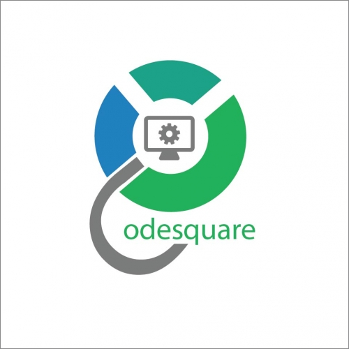 Code square logo for software solution company