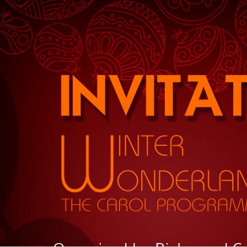 Invitation of Christmas Event