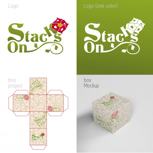 Logoand Box design for Stacks On