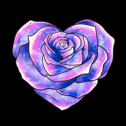 Heart Shape Rose without Background
