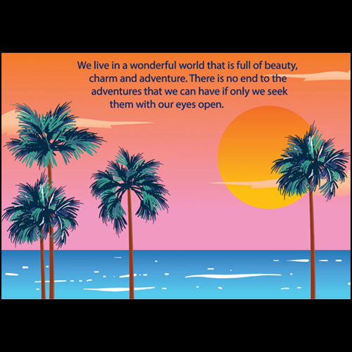 sunset with quote