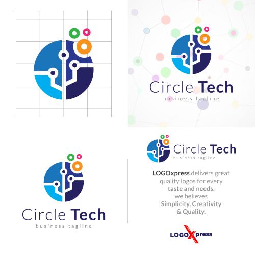 Colorful Circle Technology Logo