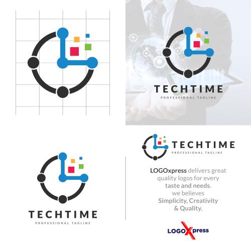Digital Tech Time Logo