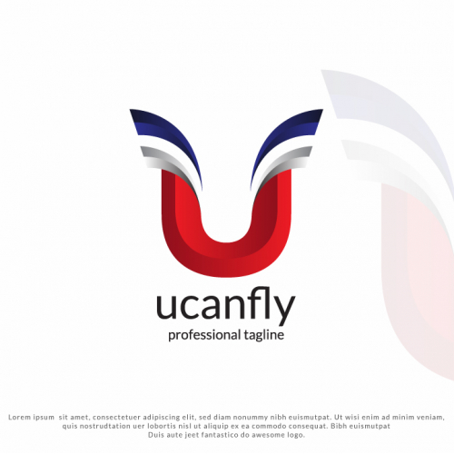 Letter U - You Can Fly Logo