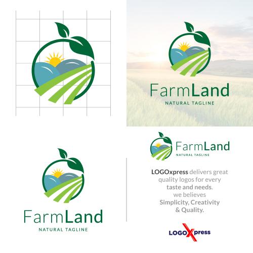 Farm Land - Agriculture Logo