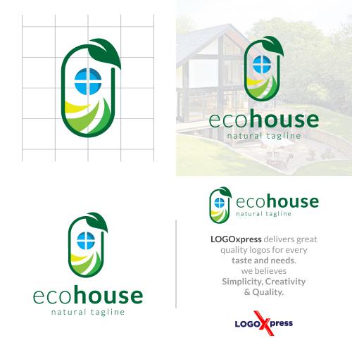 Eco House - Real Estate Logo