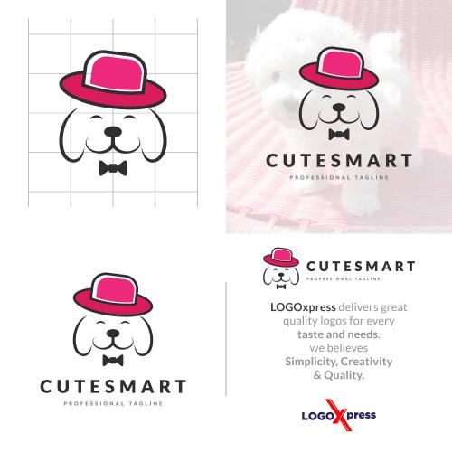 Cute Smart Dog Logo