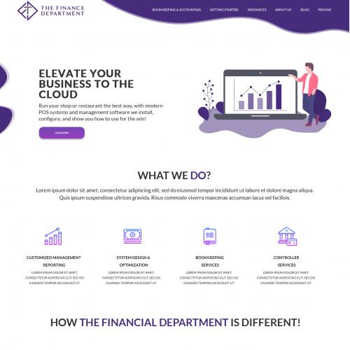 Financial Industry Website