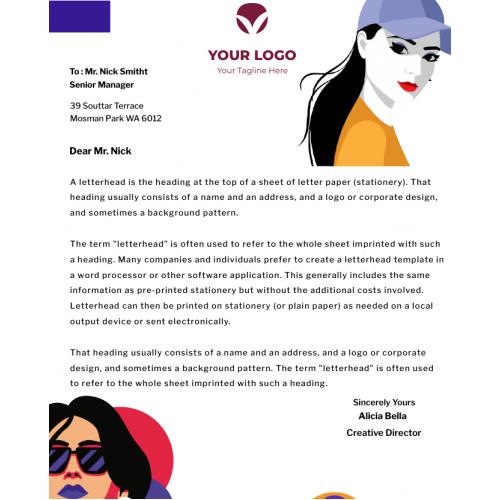LetterHead For Fashion Designers