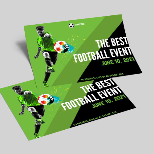 Flyer For Football Sport Event