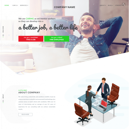 Website Design for Job