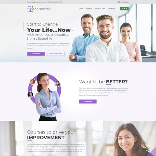 Website Design for Education Online Courses
