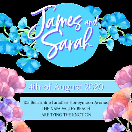 James and Sarah Lavender Wedding Invitation