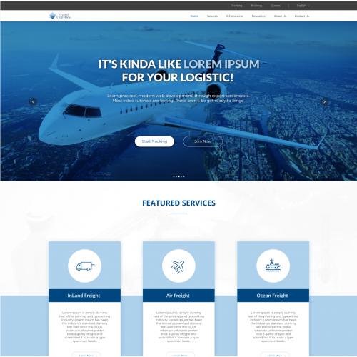 Website design for Krystal Logistics.