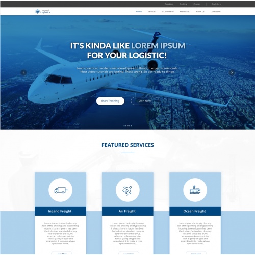 Website design for Krystal Logistics.