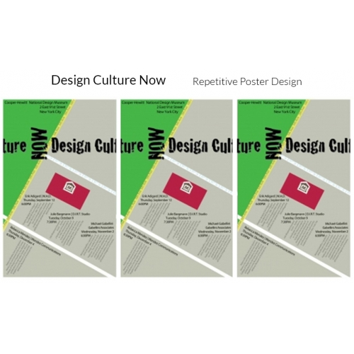 Design Culture Now Promotional Poster