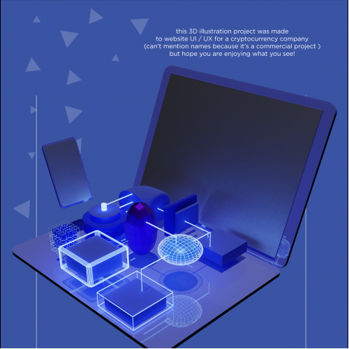 simple 3D illustration