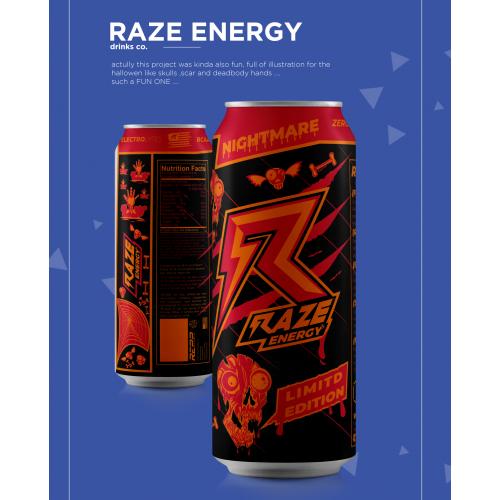 label design for razor drinks