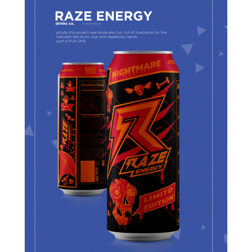 label design for razor drinks