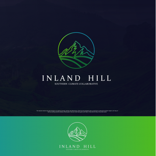 Hill and landscape logo design for environment