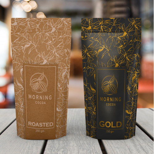 coffee packaging design in premium quality