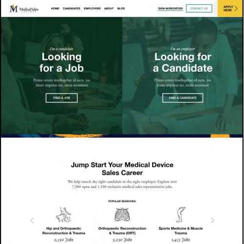Website Design from Medical Job Website